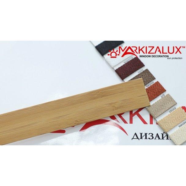 Фото Деревянные жалюзи Premium bamboo 25 янтарь Деревянные жалюзи